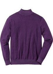 Пуловер Regular Fit (черный) Bonprix