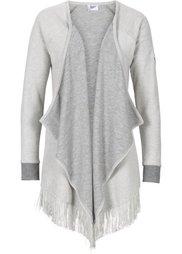 Трикотажный кардиган вязаного дизайна (шиферно-серый меланж) Bonprix