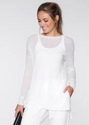 Пуловер (белый) Bonprix