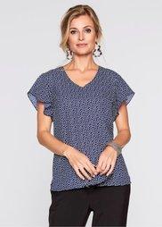 Блузка (темно-синий/белый в горошек) Bonprix
