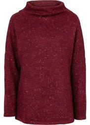 Пуловер с воротником-стойкой (карри) Bonprix
