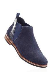 Удобные замшевые ботинки (серо-коричневый) Bonprix