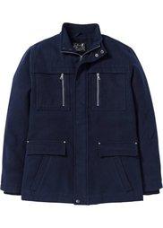 Удлиненная куртка Regular Fit (антрацитовый меланж) Bonprix