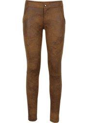 Стрейчевые брюки из искуственной замши (черный) Bonprix