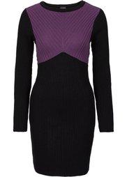 Вязаное платье (черный/темно-красный) Bonprix