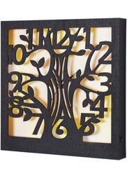 Светодиодные настенные часы Дерево (темно-коричневый) Bonprix