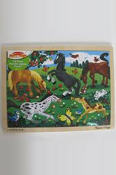 Пазлы - Резвые лошади Melissa & Doug