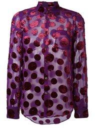 прозрачная рубашка в горох Junya Watanabe Comme Des Garçons Vintage