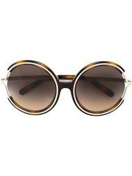объемные солнцезащитные очки в круглой оправе Chloé