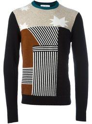 свитер с панельным дизайном  Salvatore Ferragamo