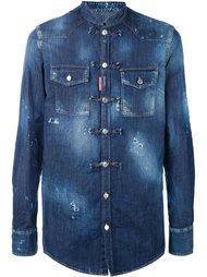 джинсовая рубашка без воротника Dsquared2
