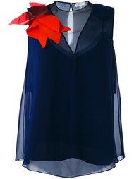 блузка с аппликацией Delpozo