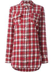 фланелевая клетчатая рубашка Off-White