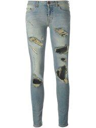 рваные узкие джинсы Off-White