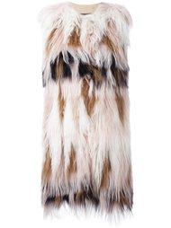 меховое пальто без рукавов Giambattista Valli