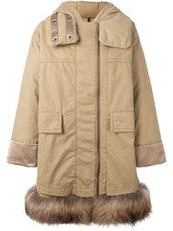 пальто с меховой оторочкой Moncler