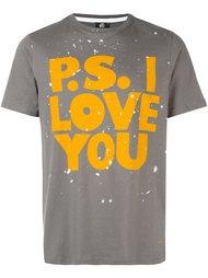 футболка с принтом брызг краски Ps By Paul Smith