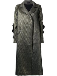 длинное пальто с эффектом металлик Elaidi