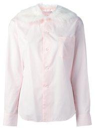 рубашка с меховым воротником Comme Des Garçons Girl