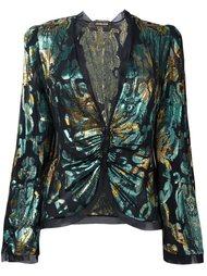 жаккардовая блузка с присборенной отделкой Roberto Cavalli