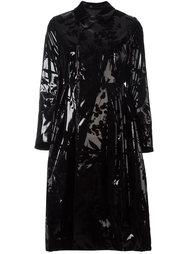 пальто с отливом и цветочным узором Comme Des Garçons Noir Kei Ninomiya