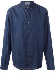 denim button down shirt Dior Homme