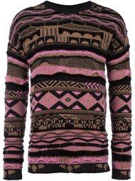 striped intarsia jumper Laneus