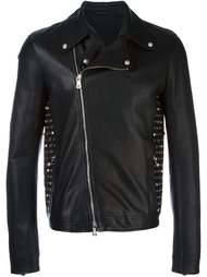 studded leather jacket  Versus