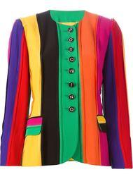 полосатый пиджак с рукавами три четверти Moschino Vintage