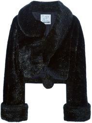 пальто из искусственного меха Moschino Vintage