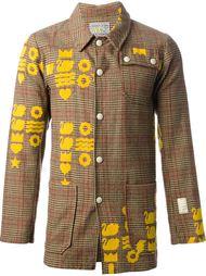 пиджак в шотландку с жёлтым рисунком Walter Van Beirendonck Vintage