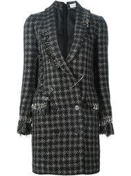 твидовое пальто в клетку Sonia Rykiel