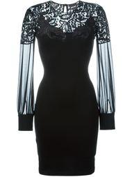 приталенное платье с кружевной панелью Just Cavalli