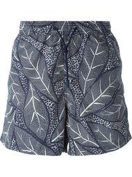плавательные шорты с растительным принтом Etro