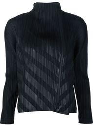 пиджак в диагональную полоску Pleats Please By Issey Miyake