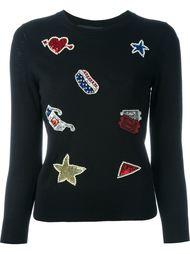 свитер с вышивкой  Marc Jacobs