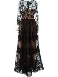 платье с вышивкой  Zuhair Murad