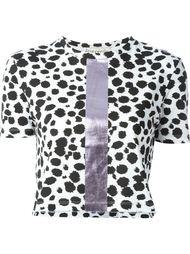 укороченная футболка с леопардовым принтом   Être Cécile