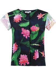 short sleeves floral blouse Isolda