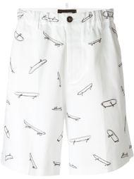 шорты с вышивкой Dsquared2