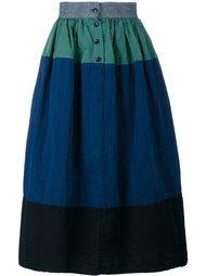 панельная юбка А-образного силуэта Visvim