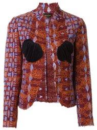 тканый пиджак Comme Des Garçons Vintage