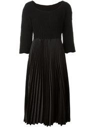 плиссированное платье миди Comme Des Garçons Vintage