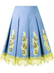юбка с цветочной аппликацией  DressCamp