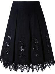 юбка А-образного кроя  с макраме  DressCamp