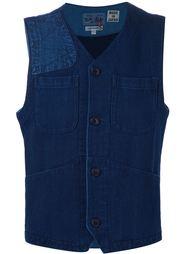 жилетка с накладными карманами Blue Blue Japan