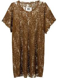кружевное платье  Mm6 Maison Margiela
