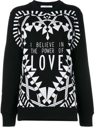толстовка 'I Believe In The Power Of Love' Givenchy