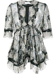блузка с цветочной вышивкой Zimmermann
