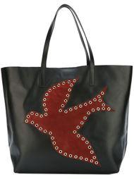 сумка-шоппер с аппликацией птицы Red Valentino